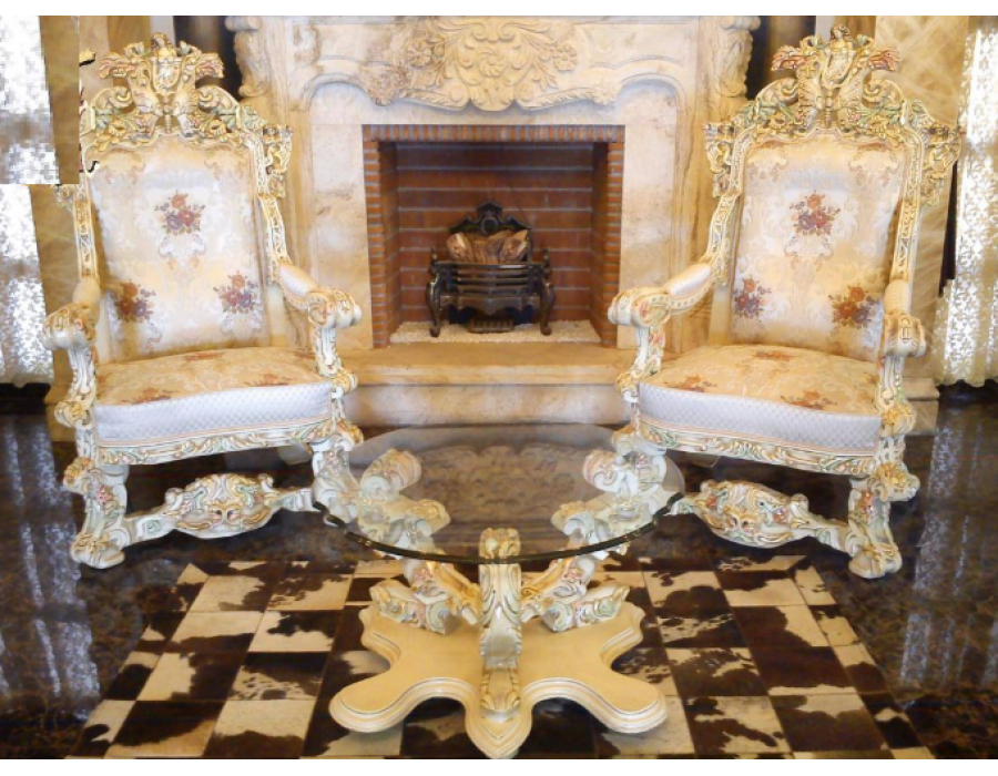 مبل استیل سلطنتی پروانه ایتالیایی رنگ روشن مارلیک