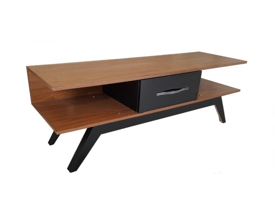 میز تلویزیون برتاریو مدل E131 قهوه ای مشکی