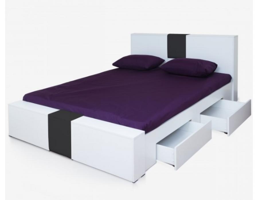 تخت دو نفره کشودار دکوچید مدل فلور
