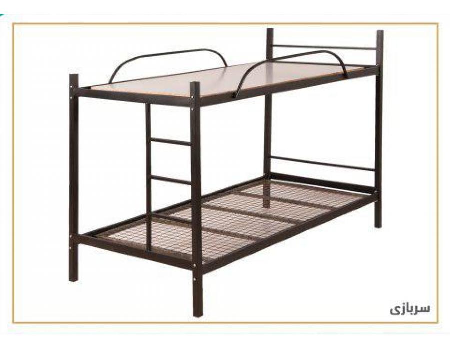 تخت خواب فلزی مدل سربازی