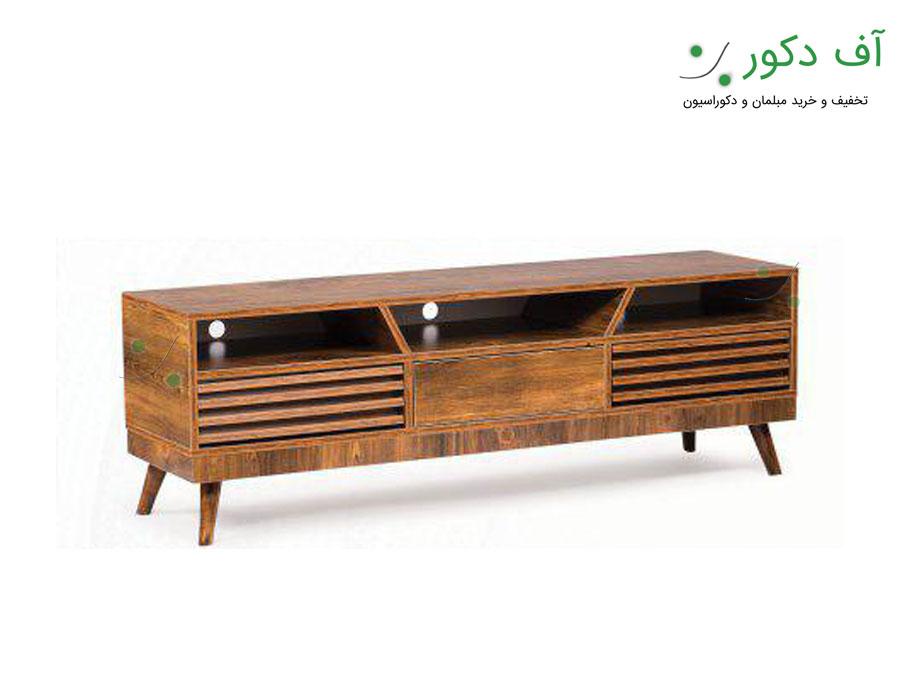 میز تلویزیون کلاسیک کرکره ای طوبی