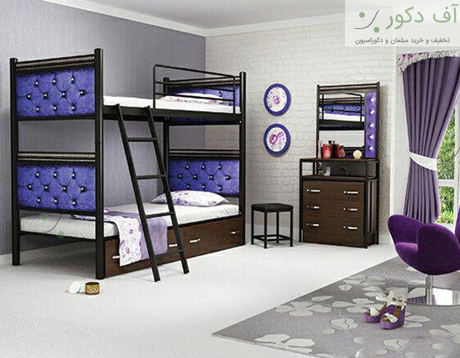 تخت خواب دو طبقه جوان لمسه