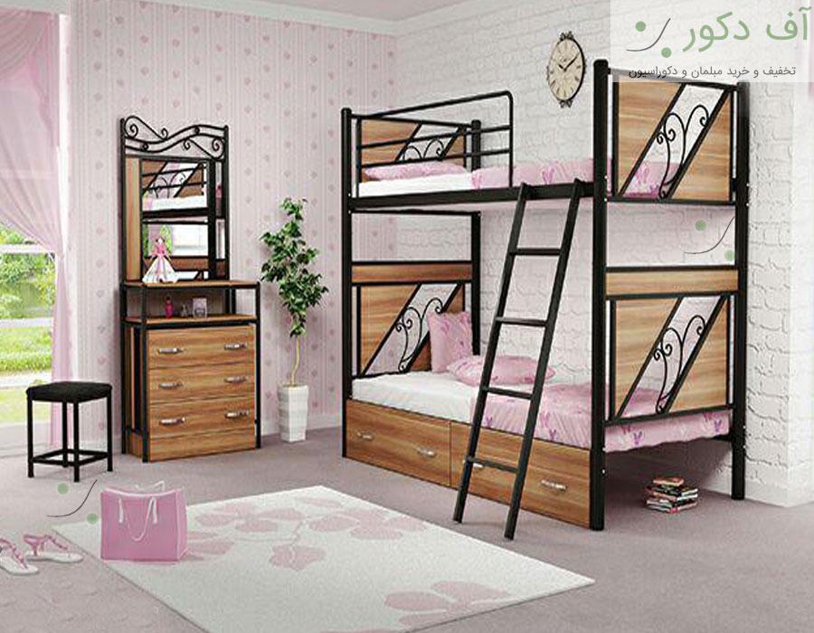 تخت دو طبقه کلاسیک