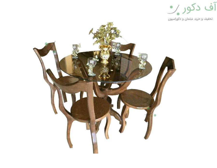 میز ناهار خوری 4 نفره مدرن لبخند |