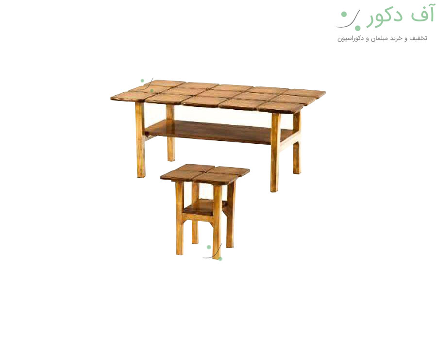 میز جلو مبلی و عسلی شبکه ای دو طبقه