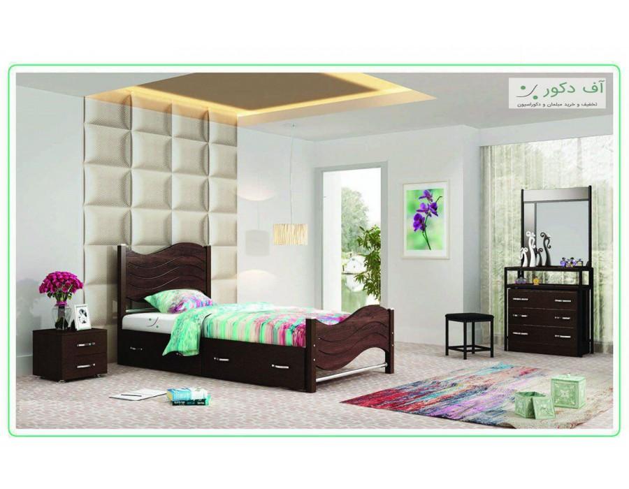 تخت خواب  یکنفره جوان ماندانا