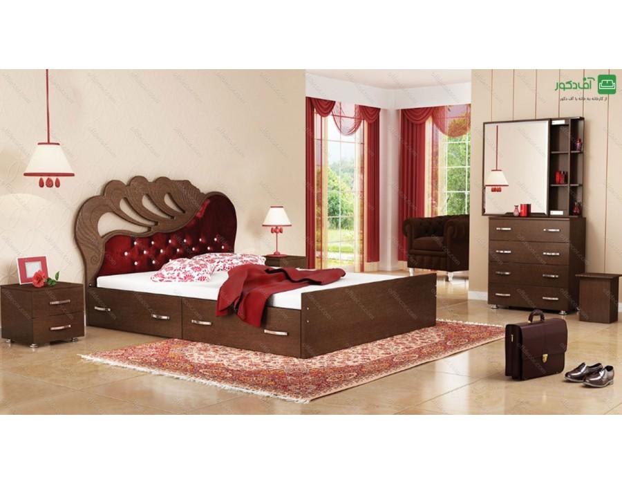 تخت خواب دو  نفره وکیوم شیدا