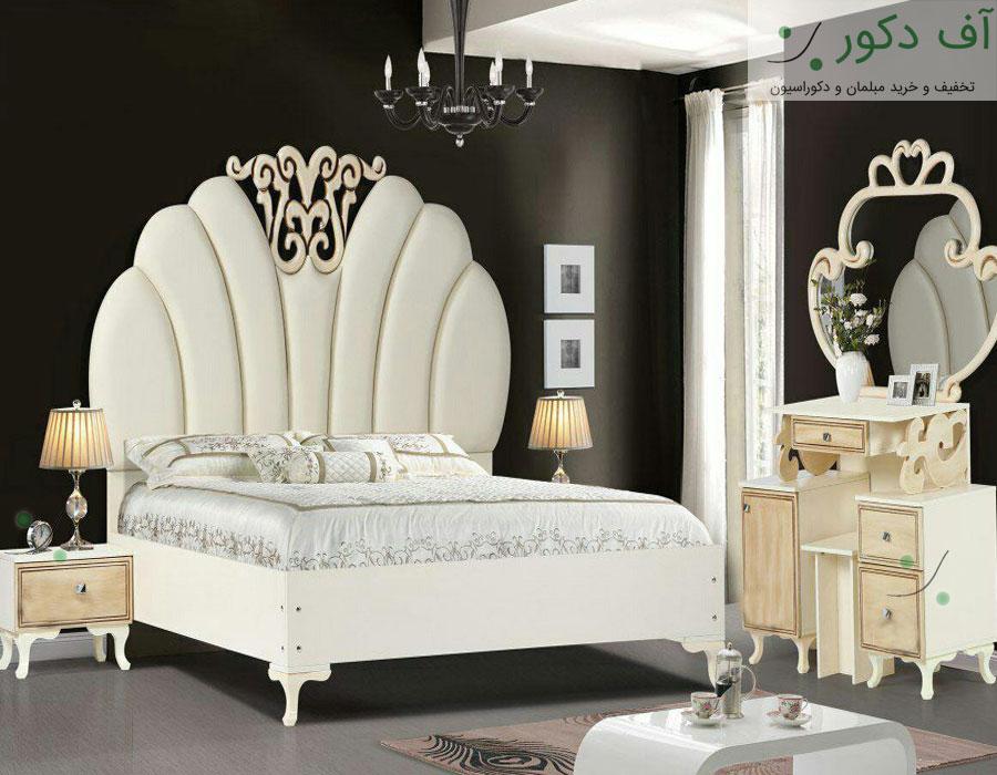 تخت خواب دو نفره سلطنتی ورنا
