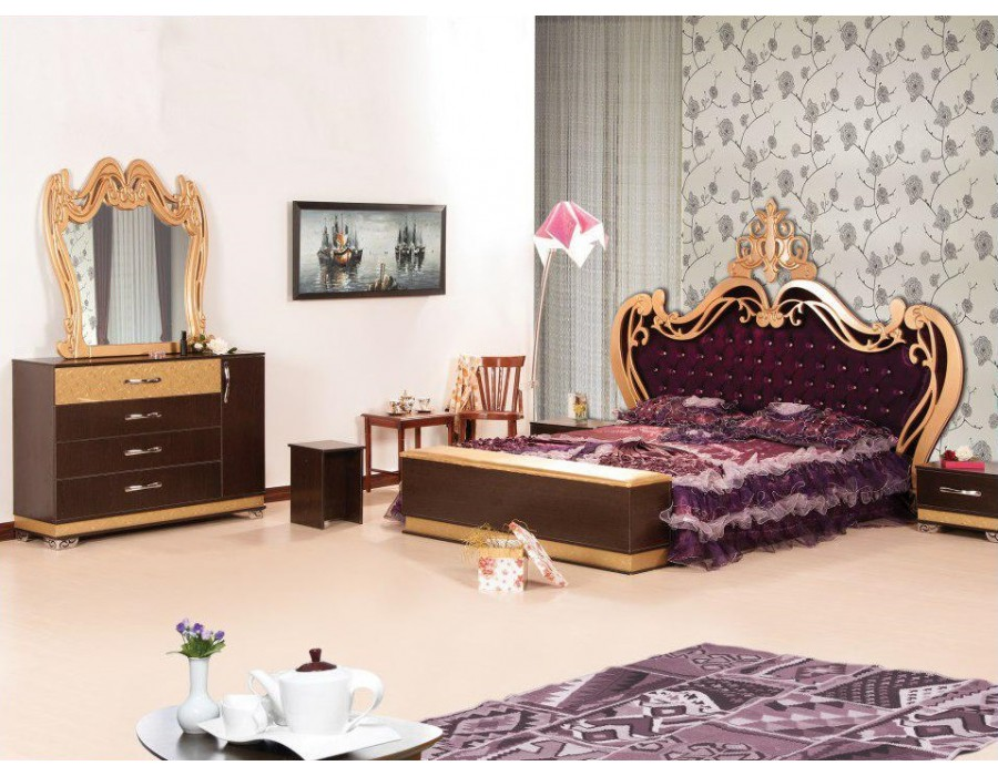 تخت خواب سلطنتی رز
