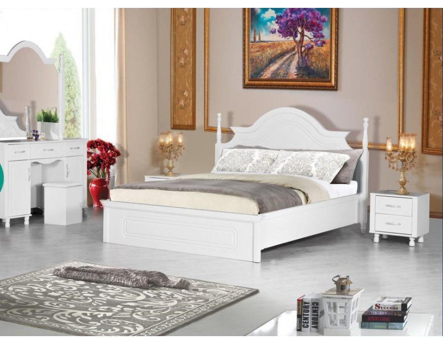 تخت خواب عروس سفید مارال