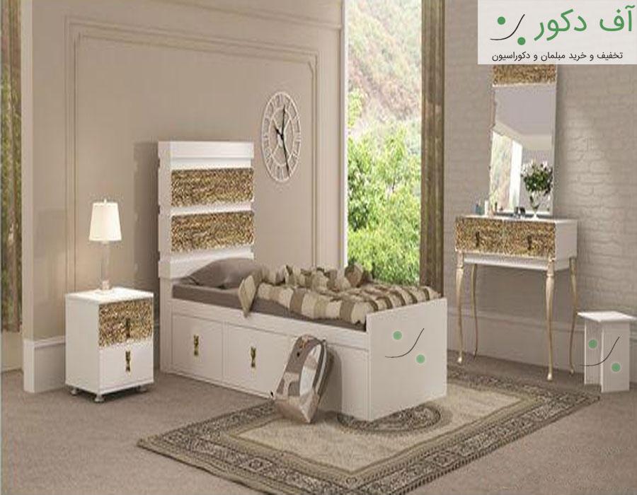 تخت خواب مدرن یک نفره رز