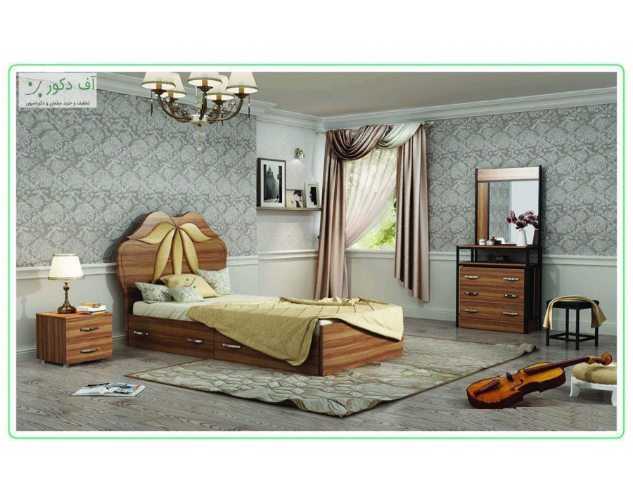 تخت خواب مدرن یکنفره گلبرگ