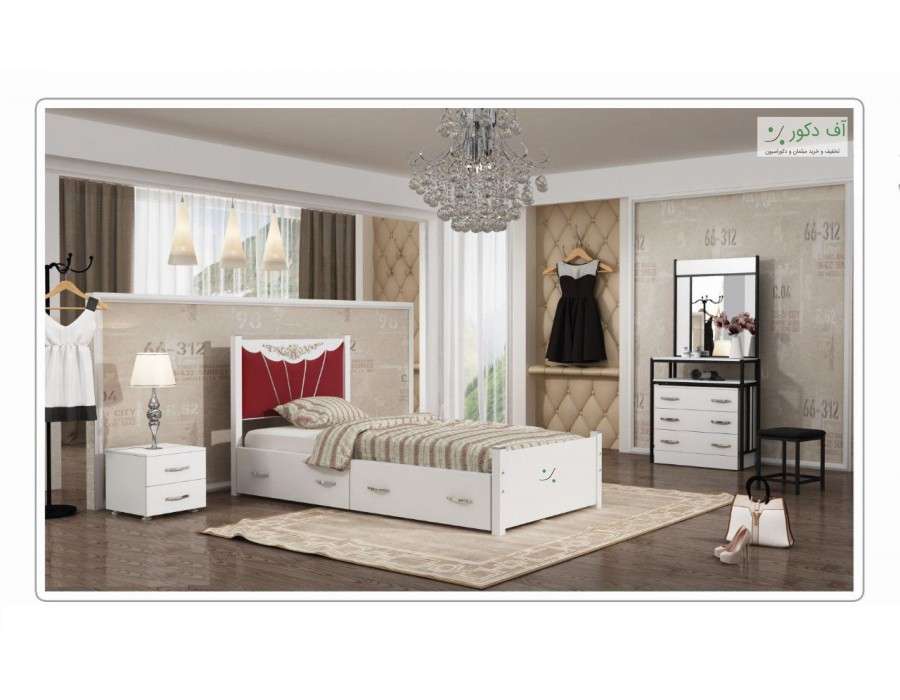 تخت خواب کلاسیک یک نفره بهار