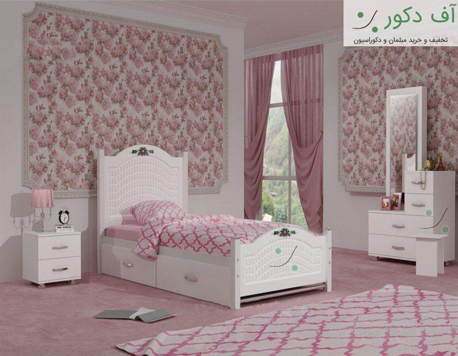 تخت خواب یک نفره دخترانه رکسانا
