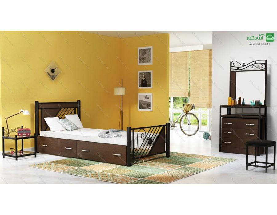تخت خواب یک نفره مدرن ملانی