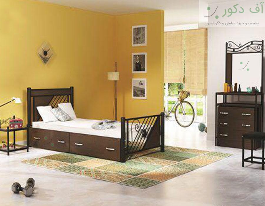 تخت خواب یک نفره مدرن  سه ستاره
