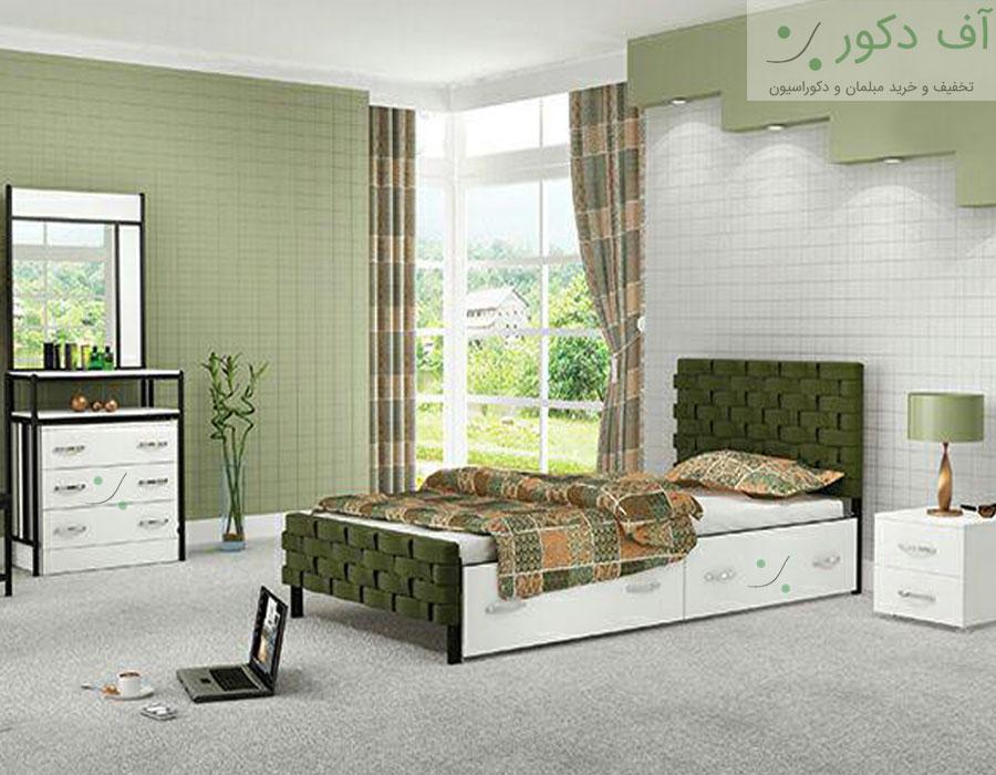 تخت خواب یک نفره مدرن تافته