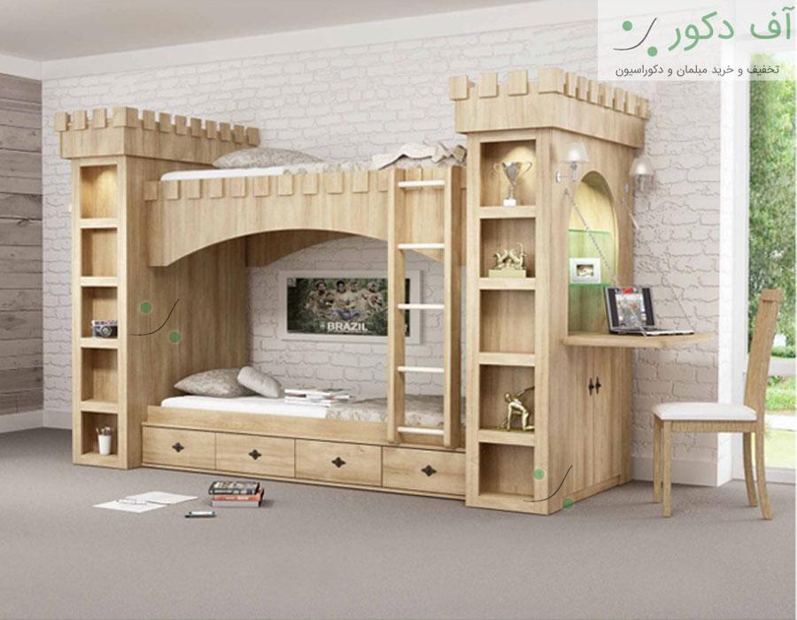 تخت دو طبقه قلعه