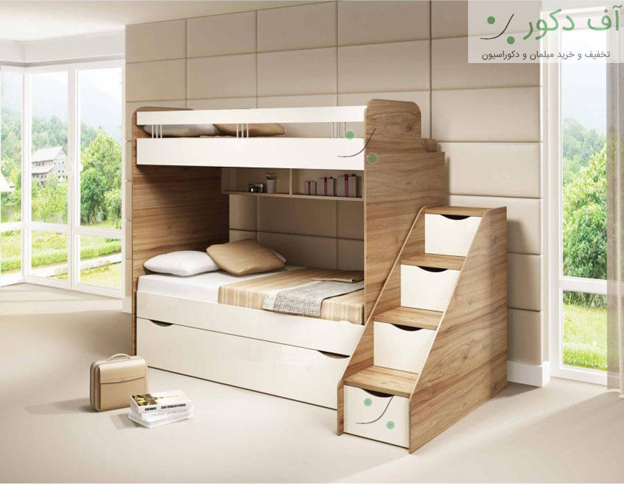 تخت خواب دو طبقه زنبق