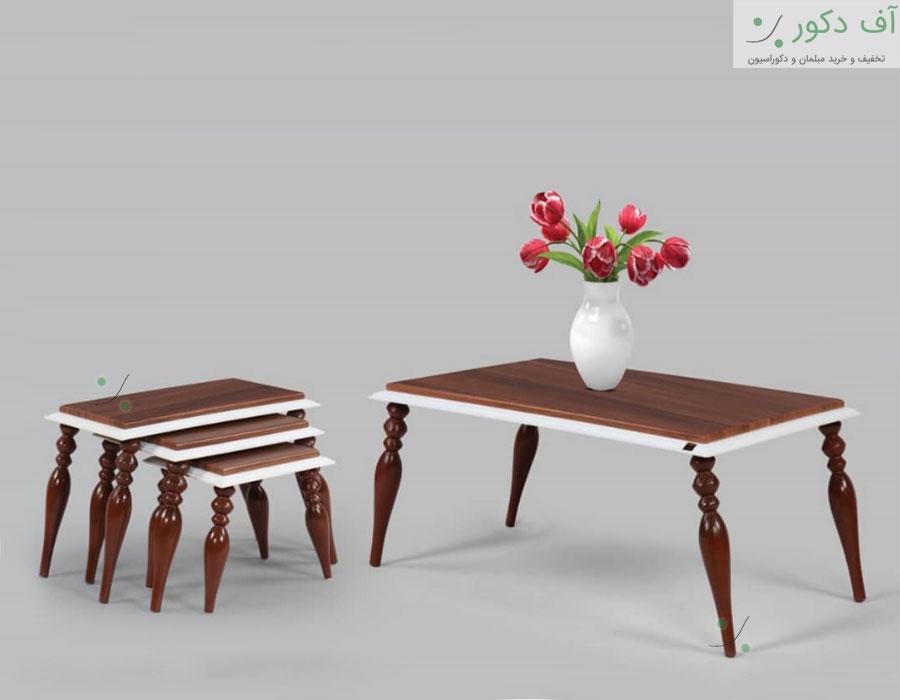 میز جلو مبلی و عسلی فلورا