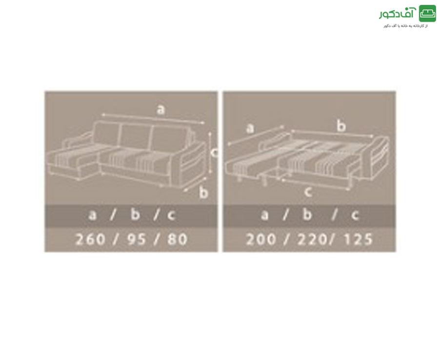 مبل ال تختخواب شو مدل ایپک