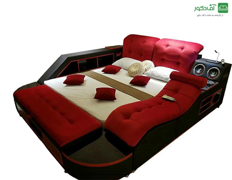 تخت خواب دو نفره هوشمند رومانو