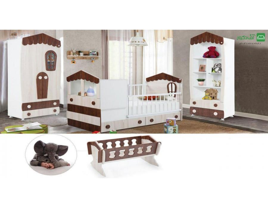 تخت خواب نوزاد نوجوان کلبه