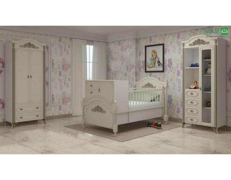 تخت خواب نوزاد نوجوان پرستو