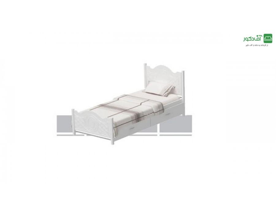 تخت خواب یک نفره سپید