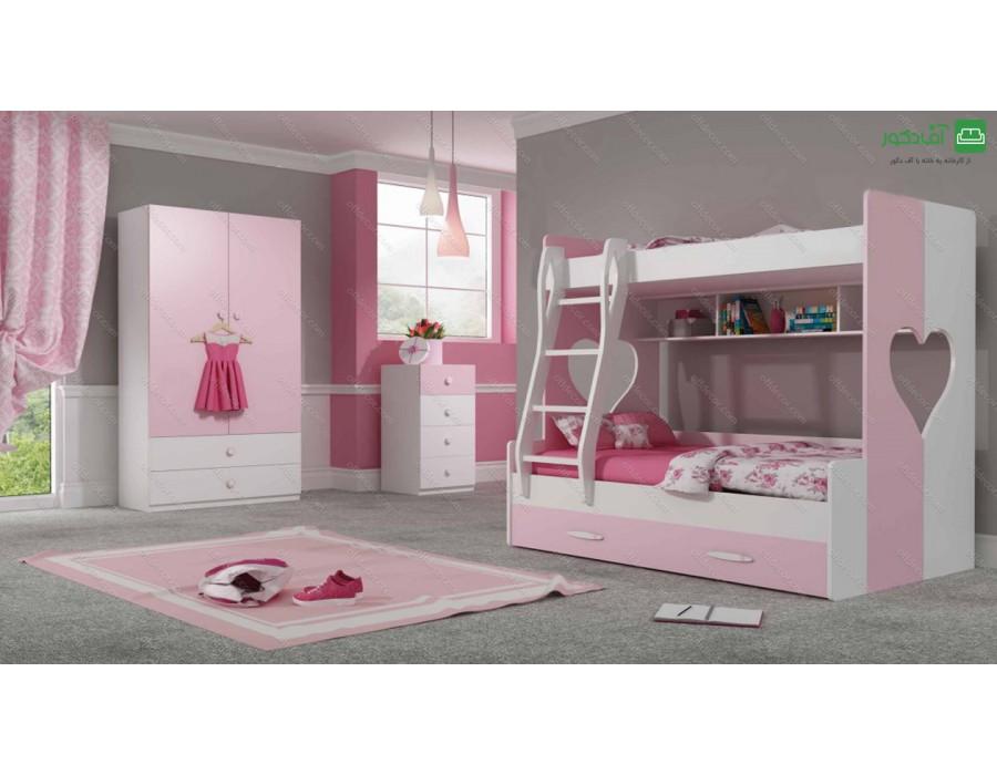 تخت دو طبقه روژان