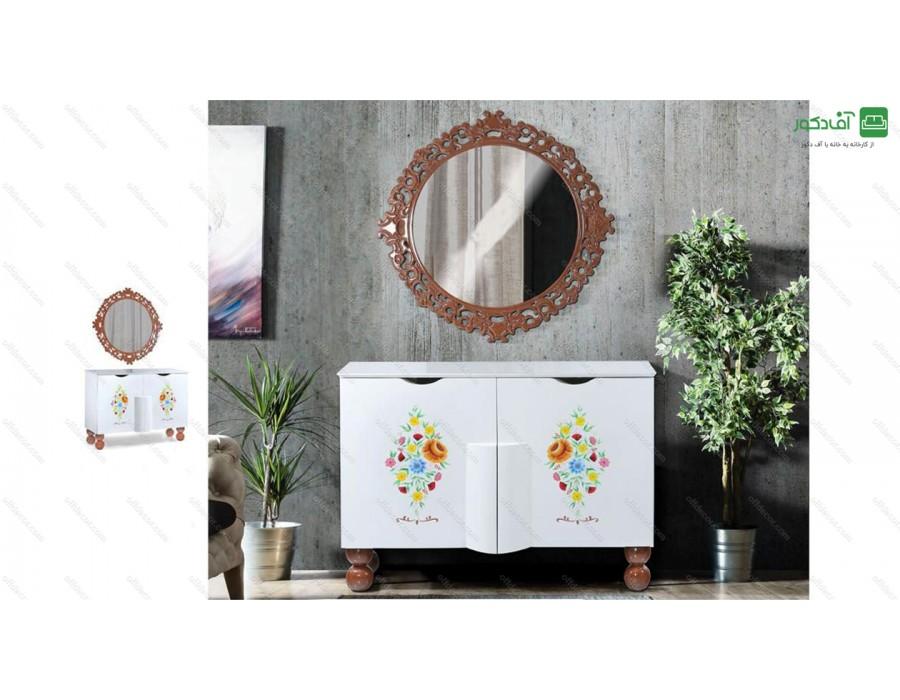 آینه و میز کنسول لورا