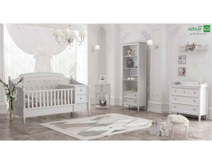 تخت خواب نوزاد نوجوان نوبل