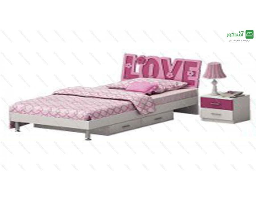 تخت خواب یک نفره رومنس