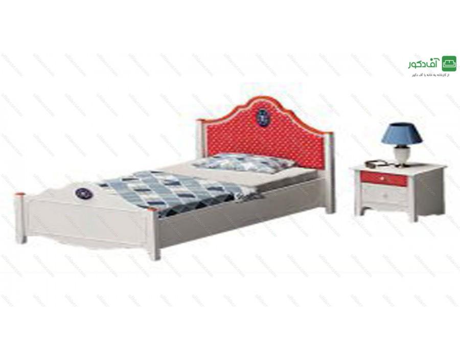 تخت خواب یک نفره فلورا