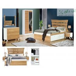 تخت خواب دو نفره کاج