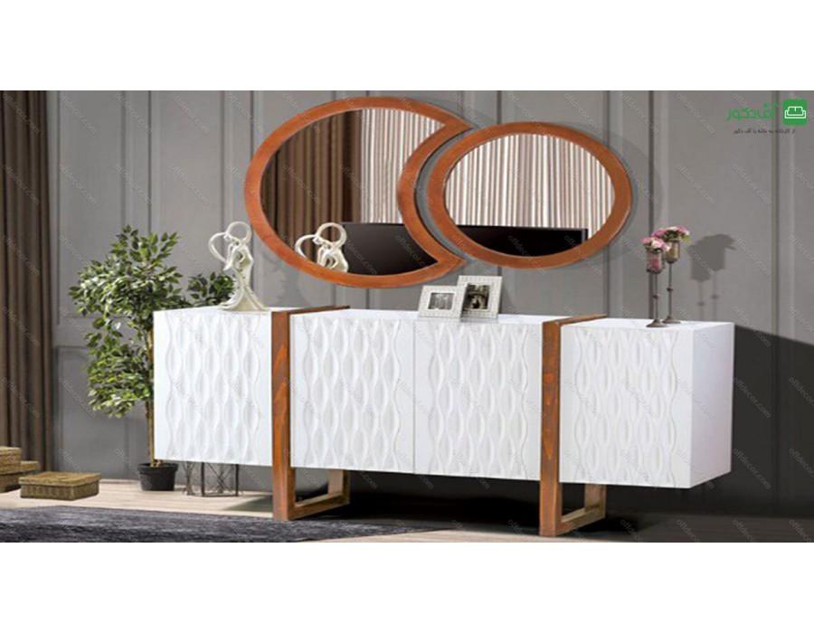 آینه و میز کنسول لوتوس