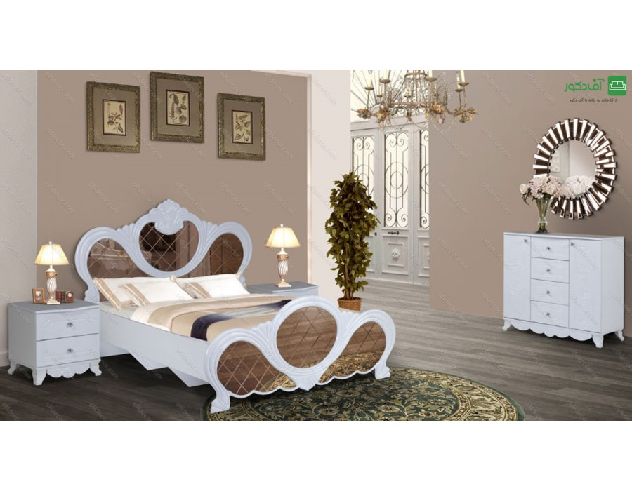 تخت خواب دو نفره آینه ای مانیا