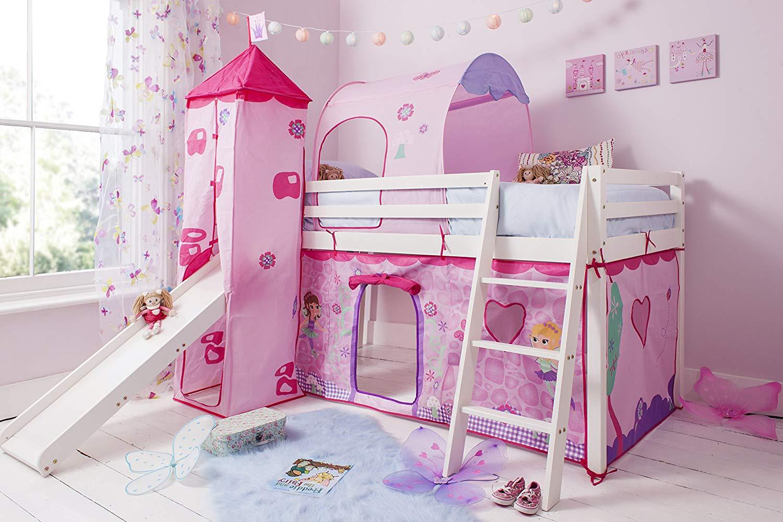 تخت خواب دو طبقه دخترانه پسرانه چوبی ام دی اف با کیفیت دو قلو