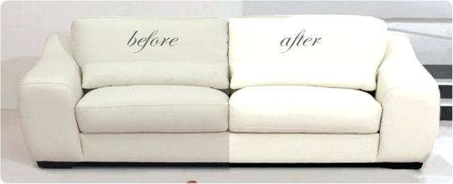 شست و شو مبل راحتی چرمی و پارچه ای رنگ روشن با دستمال در منزل