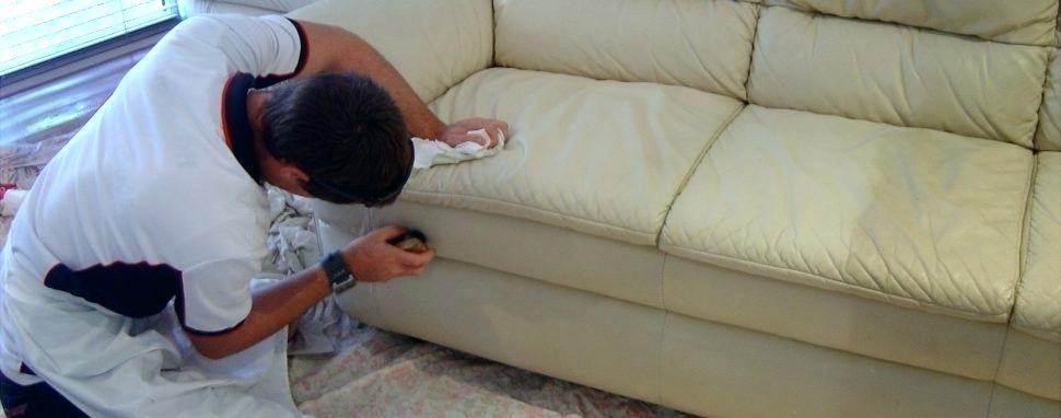 تمیز کردن و شستن انواع مختلف مبل سفید چرمی در منزل خانه
