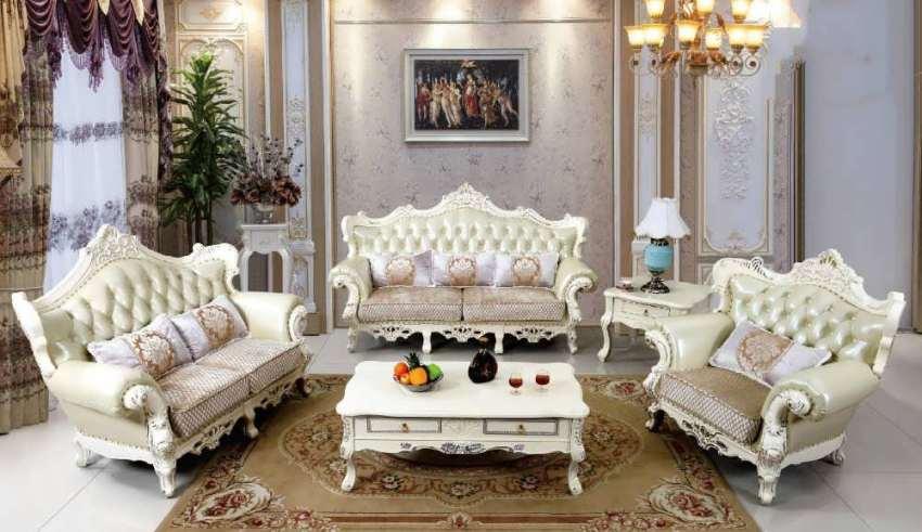 مبلمان سلطنتی جدید سفید و سبز