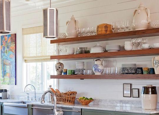 آشپزخانه شیک و زیبا استند چوبی آشپزخانه