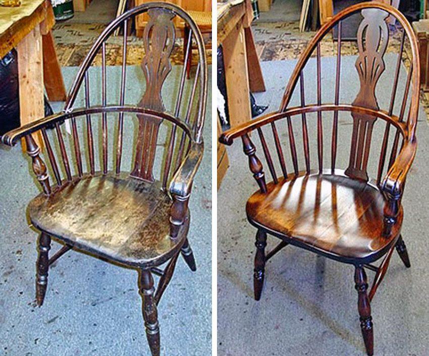 پولیش صندلی چوبی صندلی گهواره ای کلاسیک