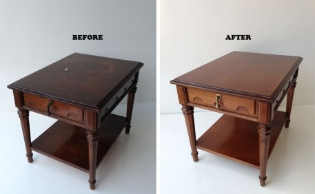 تمیز شدن میز و بوفه چوبیمیز جلو مبلی تعمیرساخت