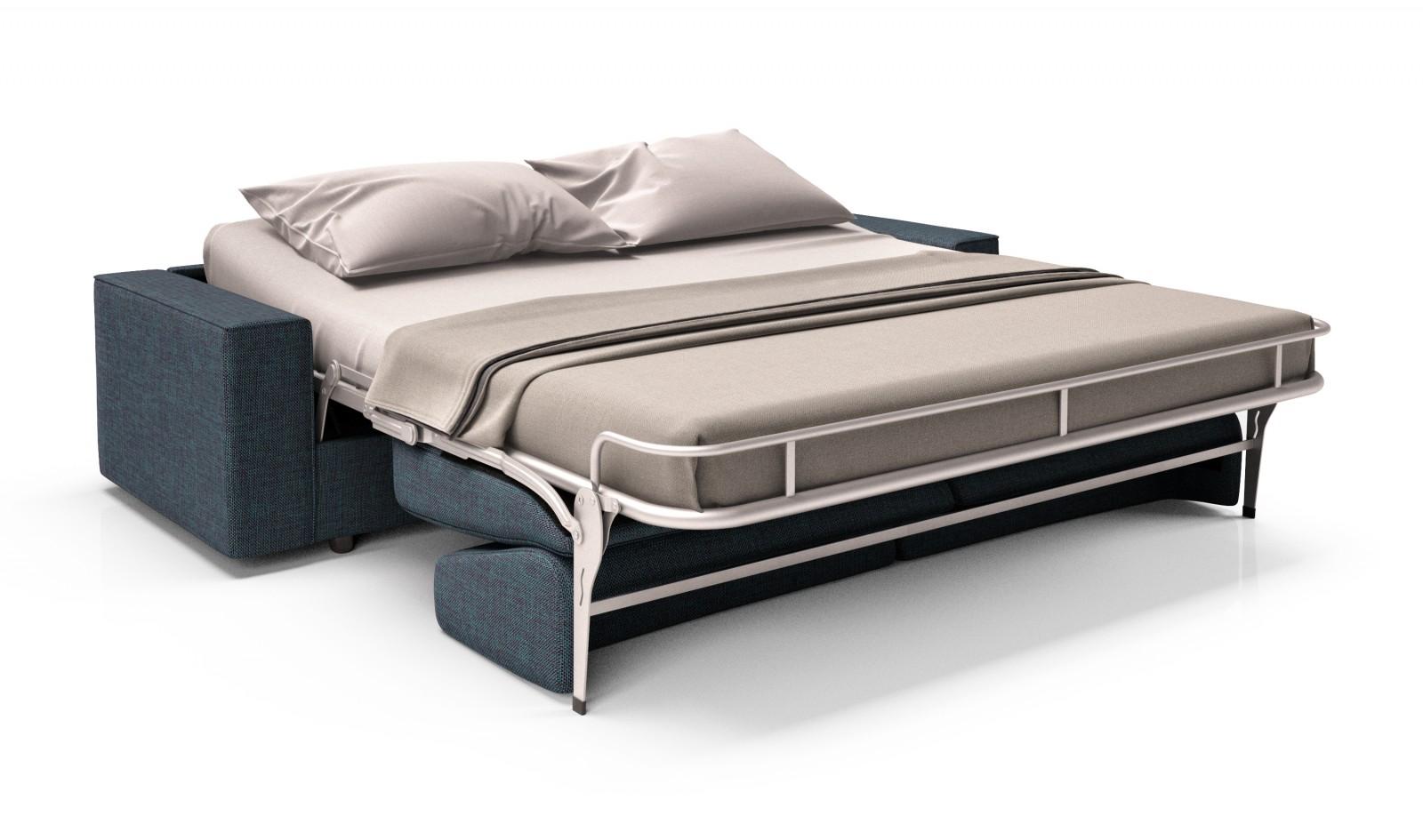 مبلراحتی تخت خوابشو پارچه ای توسی سورمه ای