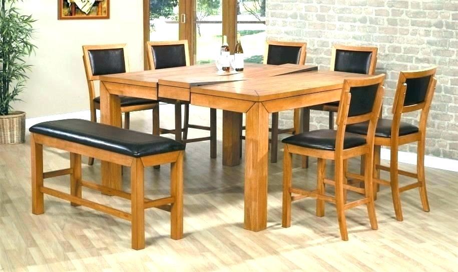 میز ناهار خوری تاشو چوبی آشپزخانه فلزی هشت نفره نیمکت دار