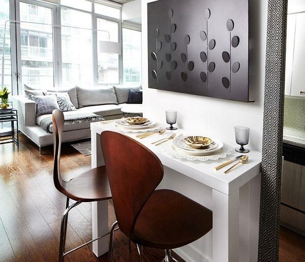 میز ناهارخوری دیواری کمجا کوچک آشپزخانه