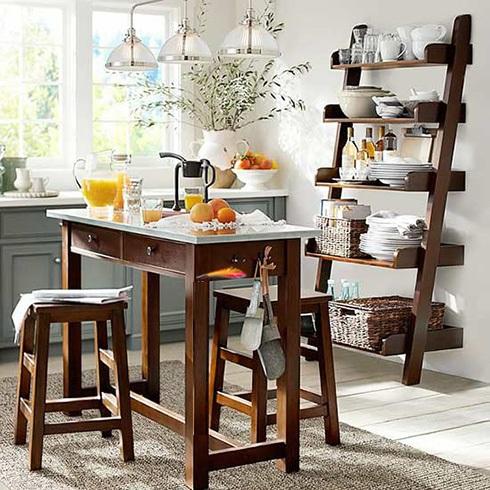 میز ناهارخوری خانه های کوچک چوبی قهوه ای سفید