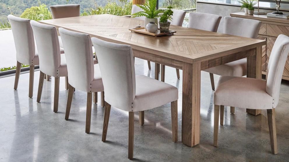 میز ناهار خوری چوبی آشپزخانه صندلی پارچه ای توسی