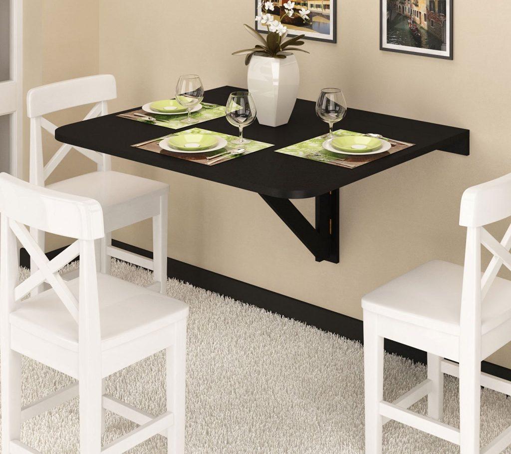 میز ناهار خوری چوبی آشپزخانه تاشو کم جا